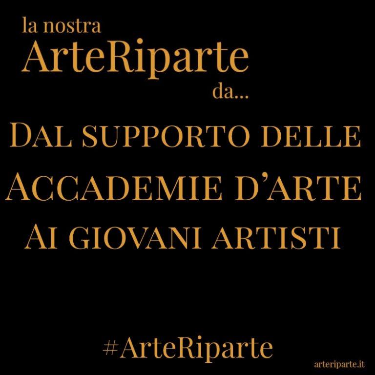 Dal supporto delle Accademie d'arte Ai giovani artisti